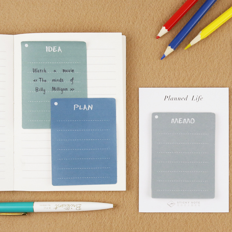 Note For Memo Cool Sticky Memo Notes 30 Sheets 6*8.2cm School Office Supplies 2017 New Creative Stationery