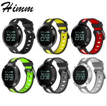 DM58 Bluetooth 4.0 Смарт Часы Heart rateblood Давление фитнес-трекер IP68 Водонепроницаемый спортивные часы для IOS Android
