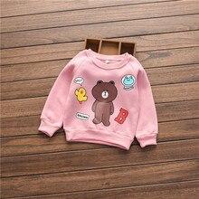 Retail 2016 Autumn baby girls hoodies,Children outerwear cute cartoon Clothes/Sweatshirt/ Winter Coat HB1082