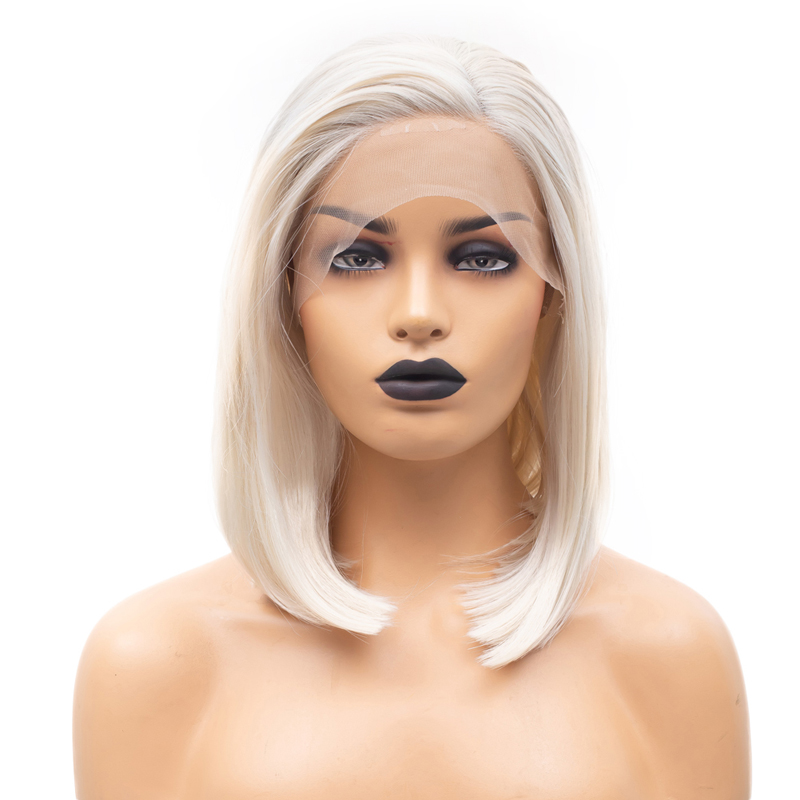 Charisma Straight Hair Synthetic Lace Front Wig Short Bob Wig Side Part Wigs For Women Heat