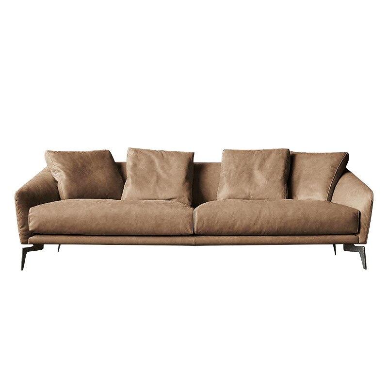 Leather Sofa Modern Minimalist