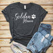 New Women T-shirt Golden Mama Letter T Shirt Casual Printed Mom Tops Printing Tees Female Fashion Tee Vintage Pink Top