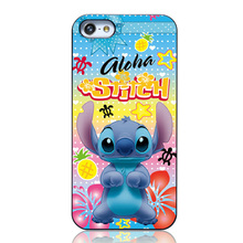 Funny Lovely 3D Cartoon Model Plastic Skin Cute Gloha Stitch Case Cover For iPhone 5 5S Back Protectiv Housing Shell Bags