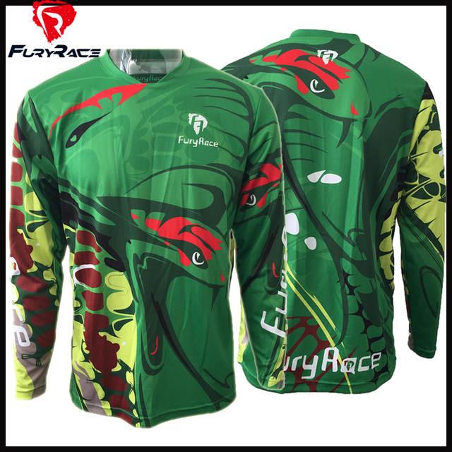 Fury Race Green Bike Jerseys Men Motorcycle Motocross Racing DH Downhill Jersey  MX MTB Shirts Bicycle. placeholder ... ef6f7bb02