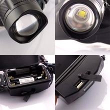 Led Headlamp Cree XM L2 Led Head Flashlight With USB Port