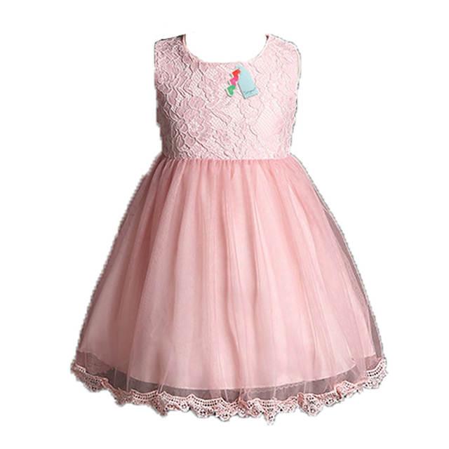 Online Shop 2018 New Summer Princess Girls Party Dresses for Christmas  Flower Belt white Pink Tulle Girl Long sleeve Wedding kids baby dress  a5b391e9356c