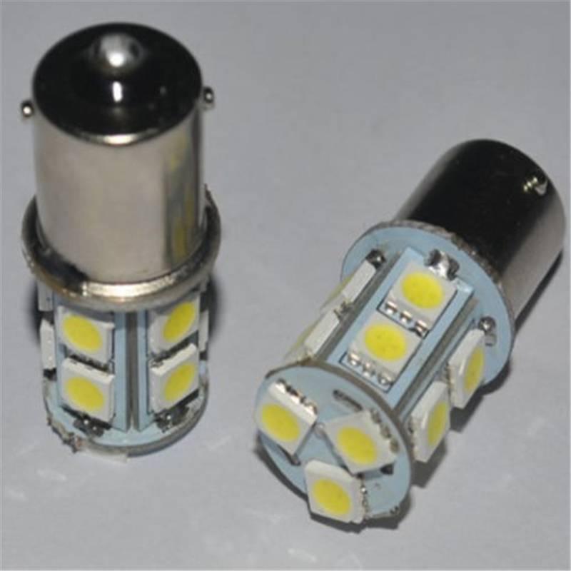 New 1Pcs White Light Lamp Bulb DC 12V 1156 BA 15S Globes 13 LED Brake Turn