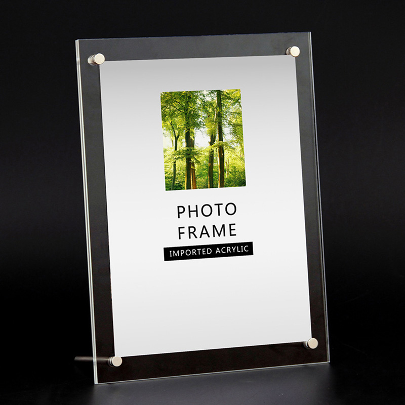 Picture Frame Modern Photo Picture Holder Display Photo Frame Acrylic Wedding Photo Frames for Pictures Size 6/7/8/10/12 Inch