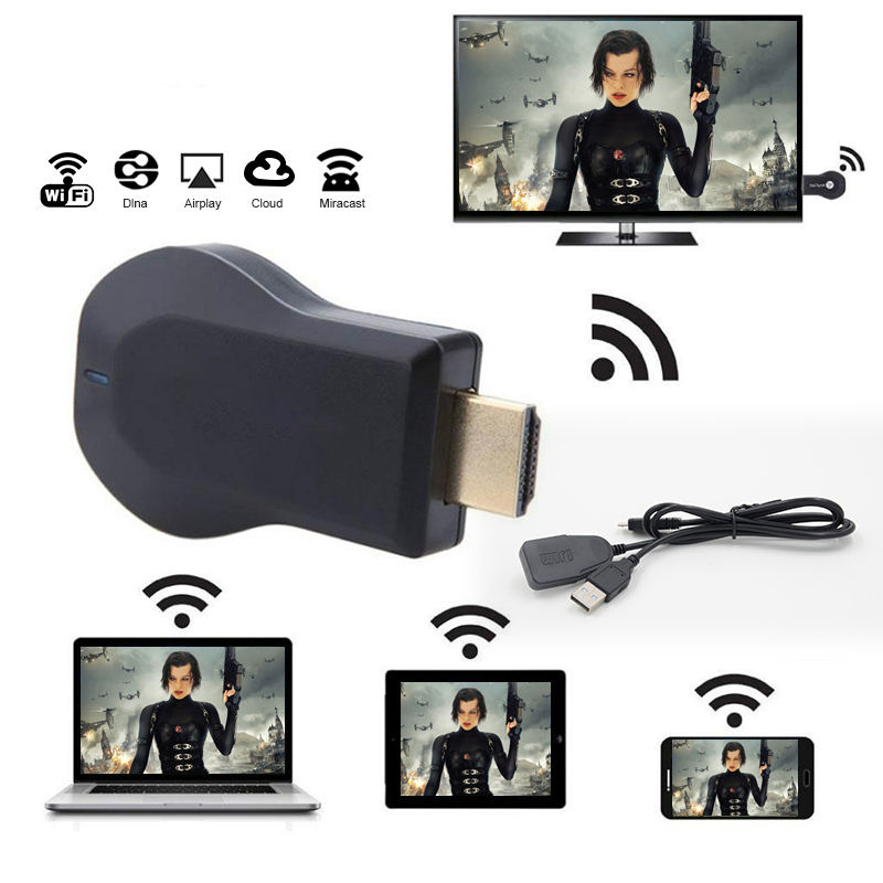 1080p Wireless WiFi HDMI TV Dongle Receiver Airplay For Samsung Galaxy A7 A8 A5