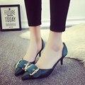 2016 весна и осень новых мужчин указал обувь женская мода low-side sexy высокие каблуки банкетный удобный высокой туфли на высоком каблуке