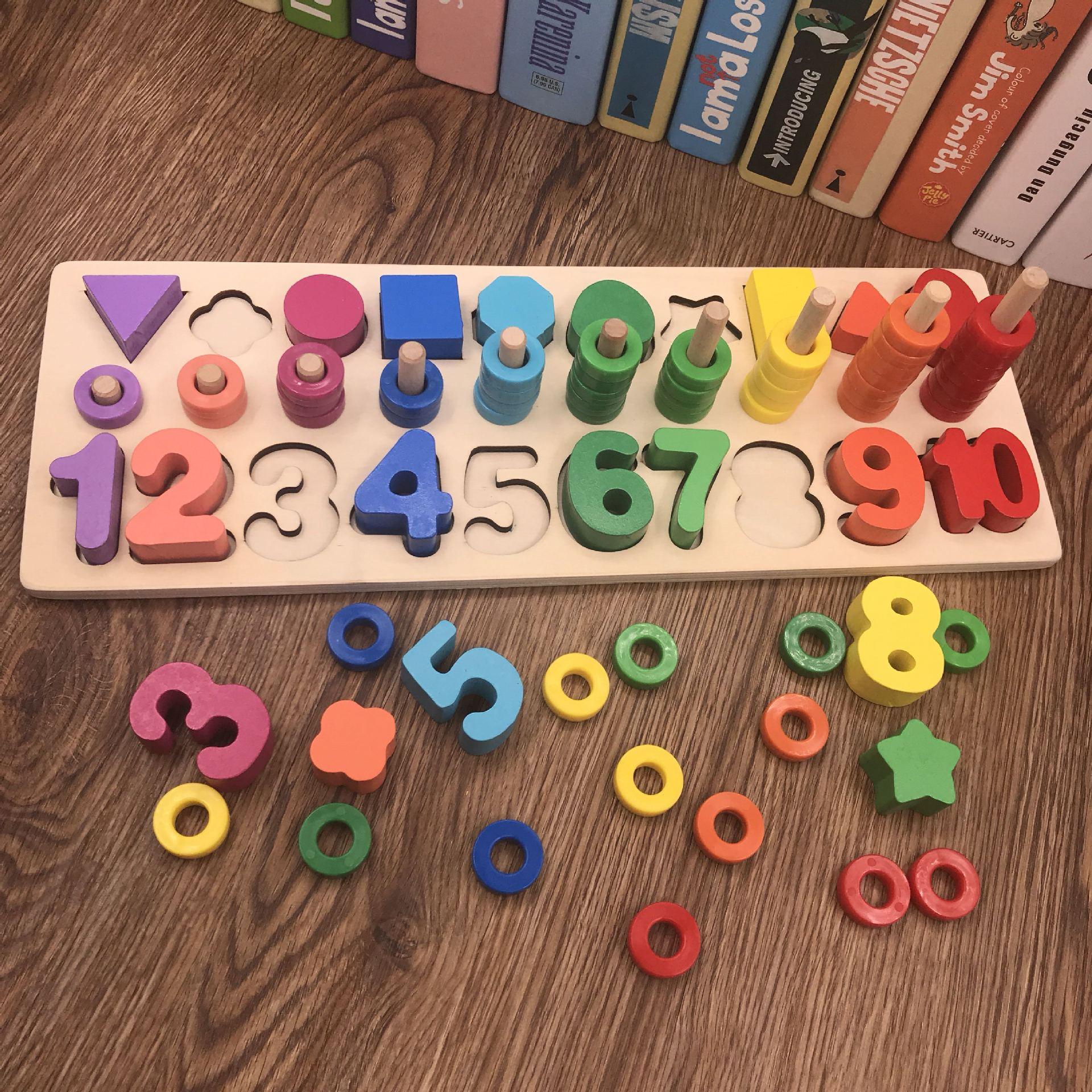 Carte d'apprentissage logarithme de mathématiques de maternelle éducative cercle arc-en-ciel correspondant pour les jouets numériques d'apprentissage précoce des enfants