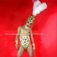 Ночной клуб DJ Для мужчин этап Perfromance Броня костюмы со шляпой Вечеринка платье DS одежда