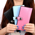 Hot Fashion 6 Colors PU Leather Long Wallets Buckle Design Women Wallets Portable Casual Lady Cash Purse Girls Card Holder Gift