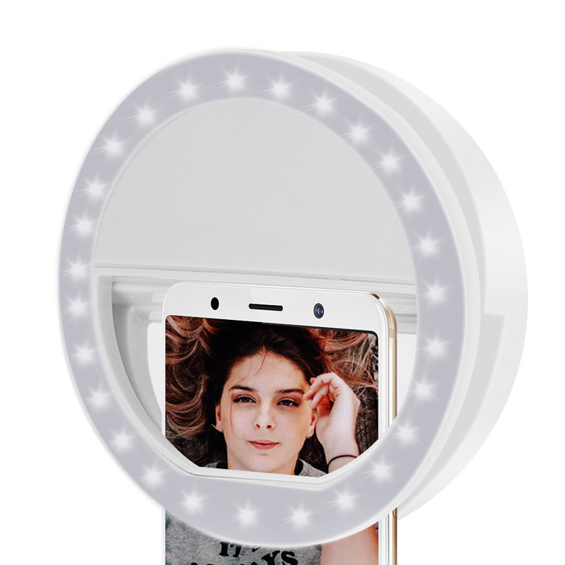 36 LEDs Selfie Portable Ring Light Fit Dim Environment Self Timer Light Tool Luminous Ring Clip For Any Cell Phones Tablets