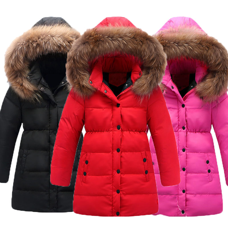 Christmas white duck down warm winter jackets for girls fur hooded long thick little big boys winter clothes children down coats winter coats girls down jacket for boys parkas long glasses models kids hooded jackets thick warm ski children outwear clothes