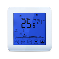 16A Digital Touch Screen Thermostat Programmable Floor Heating Thermostat Room Warm Temperature Controller AC200 240V