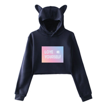 BTS Love Yourself Answer Crop Top Hoodies With Ears (15 Models)