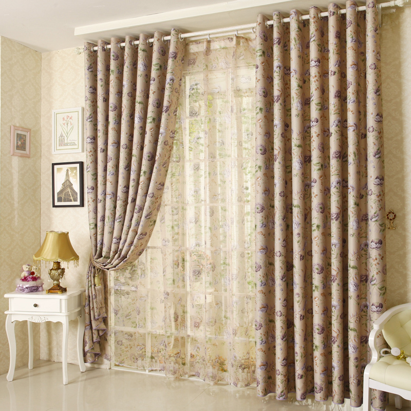 double window curtains
