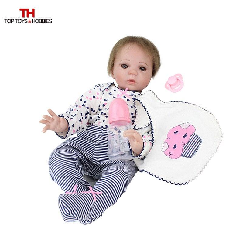 55 cm réaliste bambin poupée Reborn bébé fille avec sucette magnétique Silicone Vinly Bebe poupées enfants nouvel an cadeau Juguetes - 6