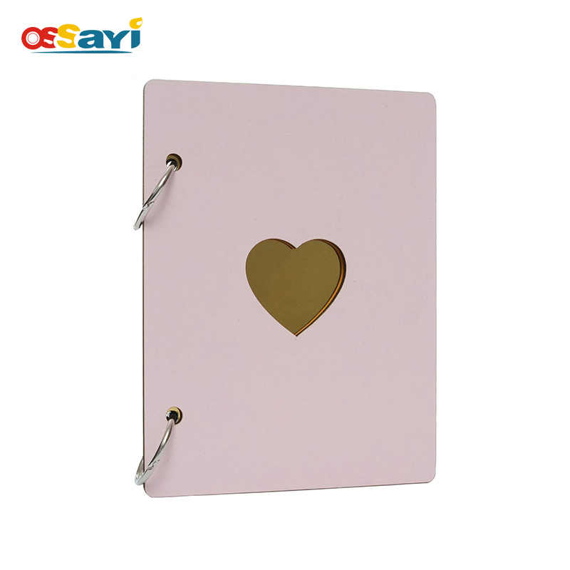 6 inch DIY Wooden Photo Album Scrapbook Sticky Type Memory Record Scrapbook Birthday Gifts Baby Wedding Photo Albums