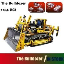 Modell építő elemek ábra téglák gyermekek számára Kompatibilis a Lego Technic 8275 modell 20008 1384 db a bulldozer