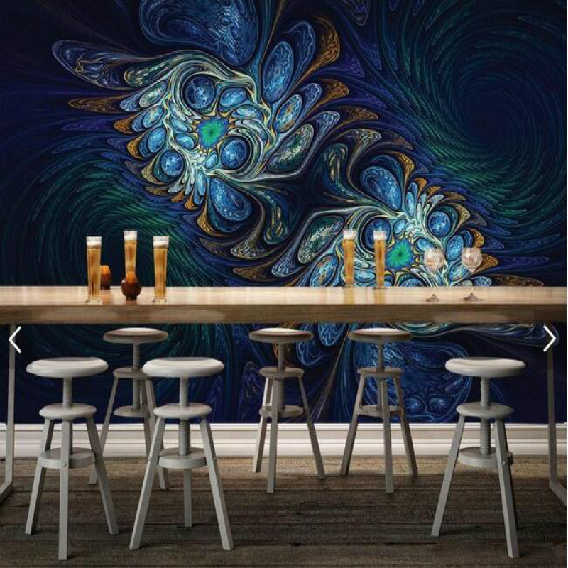 Dazzling flower coffee table desktop design large murals for Designer mural wallpaper