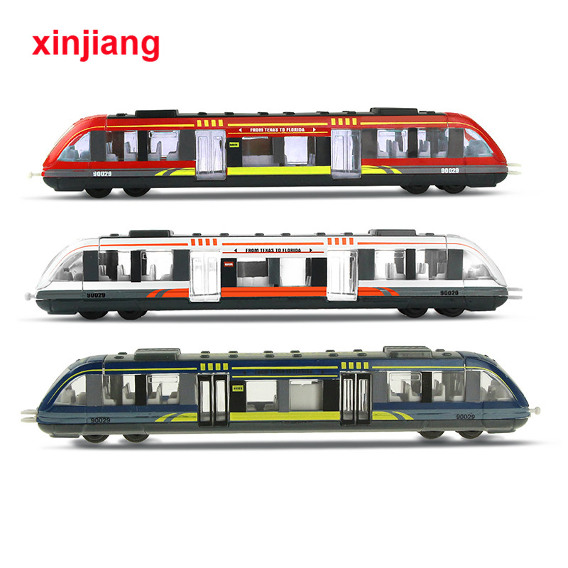 3 Colors Simulation Alloy Train Model High Speed Train Models Metal Diecasts Children Education Toy Vehicles Gifts