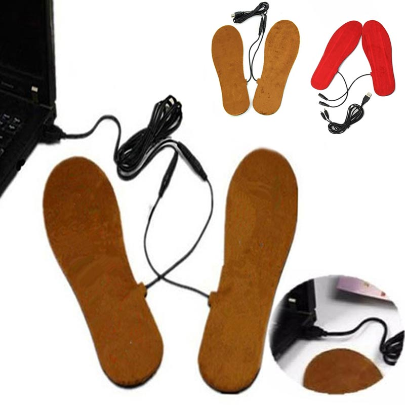 USB Electric Heated Insoles Shoes Boots Foot Feet Warmer Pad Cushion BS88(China (Mainland))
