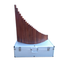 SevenAngel Treasures 31 pipes Professional Panflute 100% Handmade By 30 Years Production Master Bamboo Flute with panpipes Case