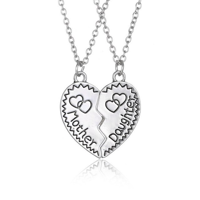 New fashion mother daughter pendant necklace sliver plated couple new fashion mother daughter pendant necklace sliver plated couple necklaces long necklace best family gifts love aloadofball Gallery