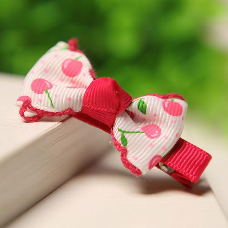 300 pcs lot Cherry merah muda pita rambut busur untuk anak-anak tampilan  rambut pita busur untuk anak-anak 1439849eef