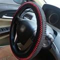 Ice Silk DIY Car Steering Wheel Cover Car Styling  Summer Helper Black Beige Grey Color Hot Sale