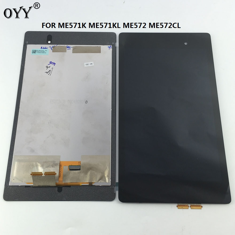 LCD Display Touch Screen Digitizer Glass Assembly For Google Nexus 7 2nd 2013 FHD ME571 ME571K ME571KL ME572CL K008 K009 for google nexus 9 replacement lcd display touch screen digitizer glass with frame assembly 8 9 inch black for tablet