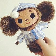 cute monkey plush toy cheburashka soft doll Russia Anime toy baby kids sleep appease doll