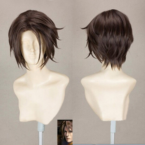 Image 1 - Final Fantasy FF8 Squall Leonhart Short Brown Heat Resistant Hair Cosplay Costume Wig + Free Wig Cap