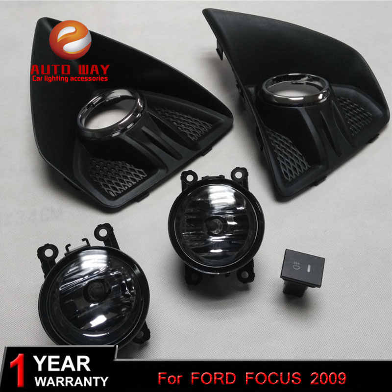 Auto Styling 2 stks/1 set Mistlamp case Voor ford focus 2009 High Power LED Mistlamp Auto DRL Verlichting Led Koplamp halogeenlamp