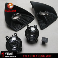 Car Styling 2pcs/1set Fog Light case For ford focus 2009 High Power LED Fog Lamp Auto DRL Lighting Led Headlamp Halogen bulb