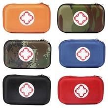 미니 옥스포드 헝겊 응급 의료 가방 응급 처치 키트 상자 여행, 야외 등 2 인테리어 컴 파트먼트 여행