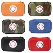 Mini Oxford Pano Saco de Kit de Primeiros Socorros de Emergência Médica Caixa de Viagem, Ao Ar Livre, etc 2 Compartimentos Interiores de Viagem