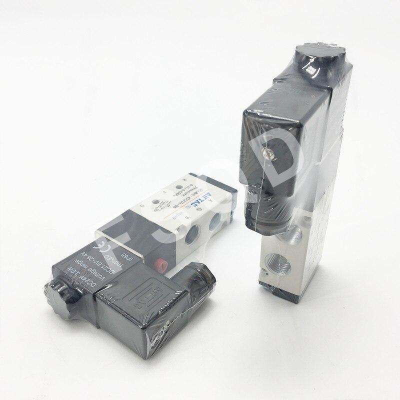 4V220-06 4V220-08-20 AC220V DC24V AIRTAC 3 Position 5 Way Air Solenoid Valve pneumatic components