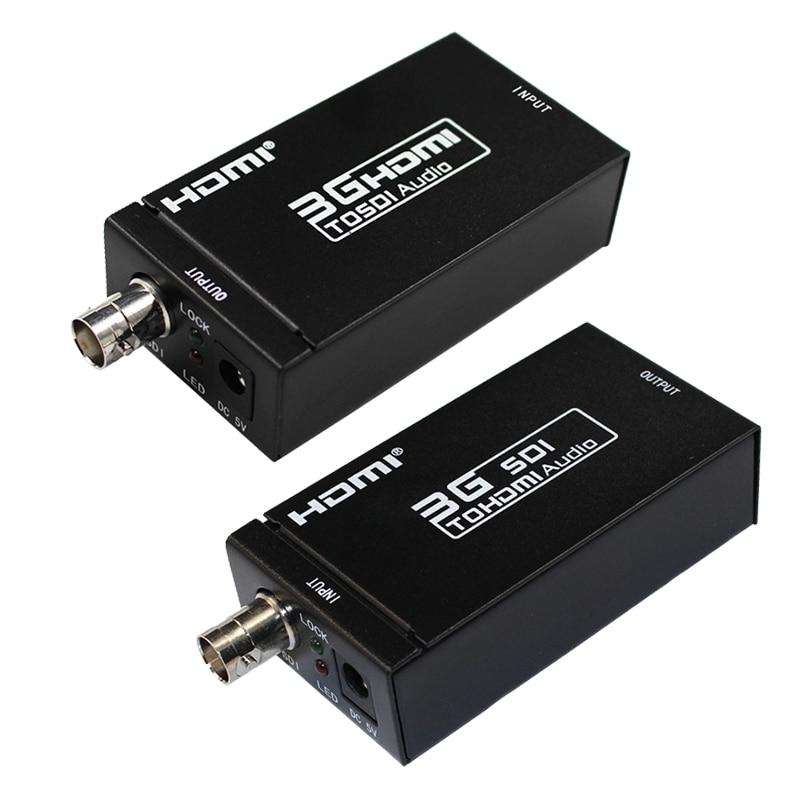 SDI Extender, HDMI para SDI para HDMI 1080 P Suporte Conversor BNC SDI/HD-SDI/3G-SDI Adaptador para Câmera Home Theater