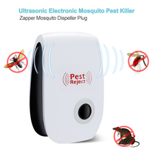 Ultrasonic Electronic Mosquito Killer Lamp Ultrasonic Anti Mosquito Insect Killer Repeller Rat Mouse Cockroach Reject Repellent ultrasonic multi function mosquito repellent insect killer