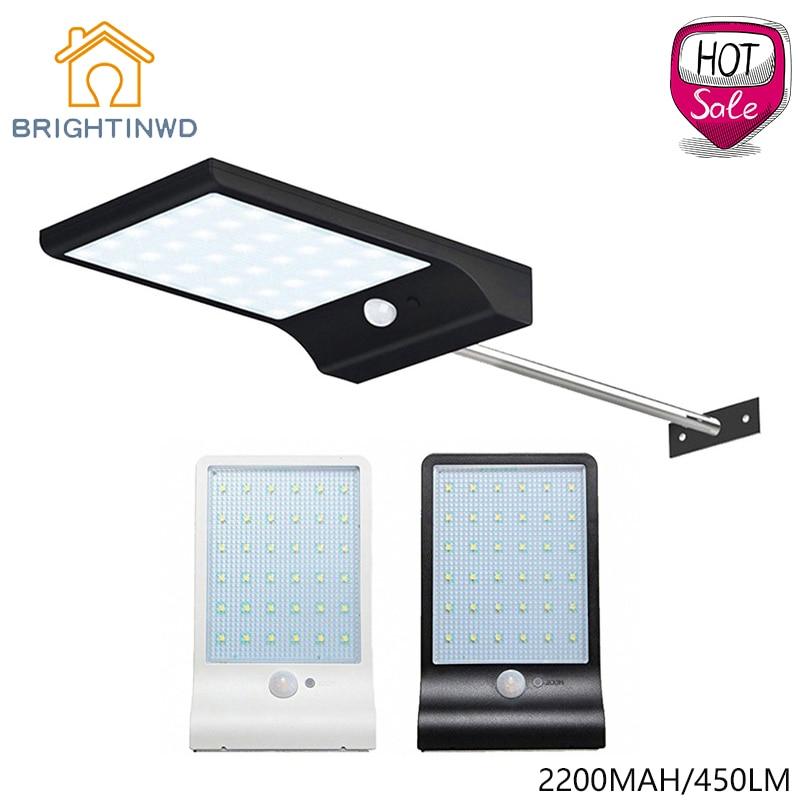 Solar Light 36led 450LM PIR <font><b>Motion</b></font> Sensor Powered Street Lamps Garden Outdoor <font><b>Led</b></font> Waterproof Wall IP65
