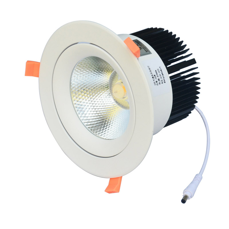LED Downlight 20W 30W AC85-265V very bright LED COB chip canister light embedded ceiling white/warm white 10pcs lot dimmable led downlight 20w 30w ac85 265v very bright led cob chip canister light embedded ceiling white warm white