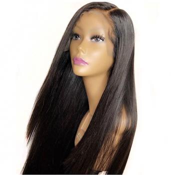 Eversilky Pre oskubane Glueless 360 koronka Frontal włosów ludzkich peruki z dziecięcymi włosami 8 #8222 -26 #8221 pełne brazylijski doczepiane proste włosy koronkowa peruka tanie i dobre opinie Ciemniejszy kolor tylko Średnia wielkość Remy włosy Brazylijski włosy Swiss koronki Średni brąz 360 Lace Frontal Wig