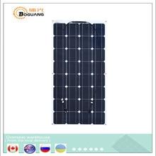 Flexible Mono PV 16V 100W Solar Panel plate CELLS Monocrystalline silicon Photovoltaic