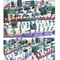 500pcs/set Military Playset Plastic Toy Soldiers Army Men 4cm Figures Accessories Model Sets Toys For Children Kids Boys Adult