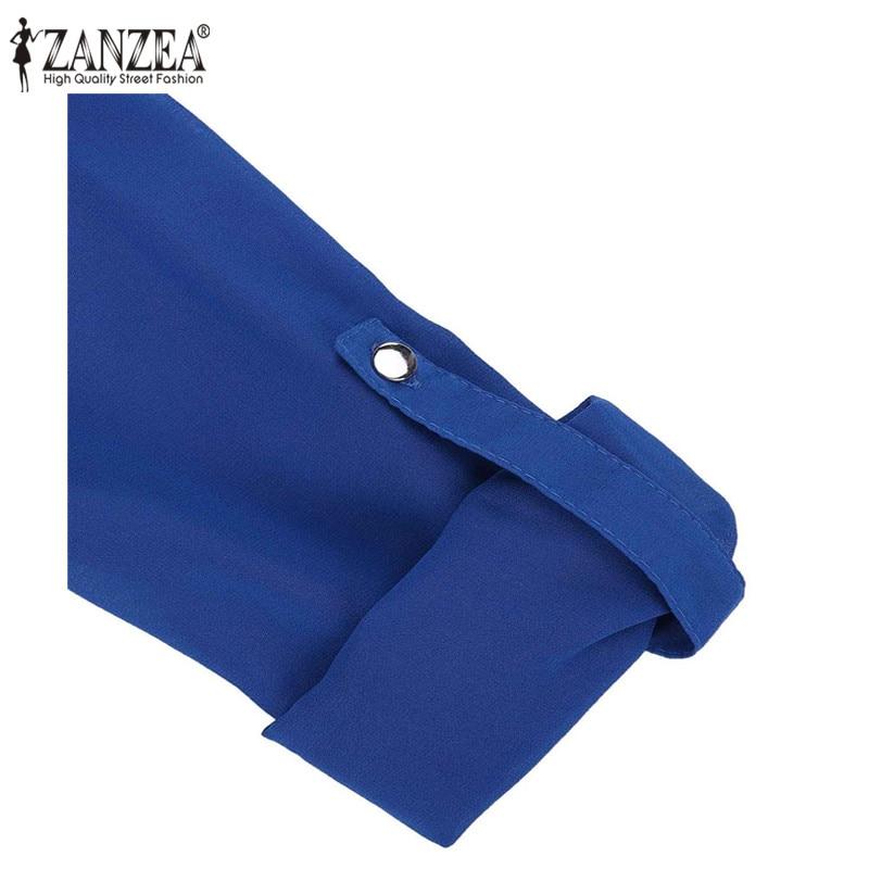 Zanzea Elegant Chiffon Women Blouse Blusas Feminina - ქალის ტანსაცმელი - ფოტო 6