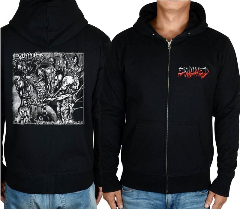 11 видов конструкций на молнии Exhumed Rock hoodies оболочка куртка 3D бренд панк Темный металлический Свитшот saw sudadera спортивная одежда - Цвет: 6