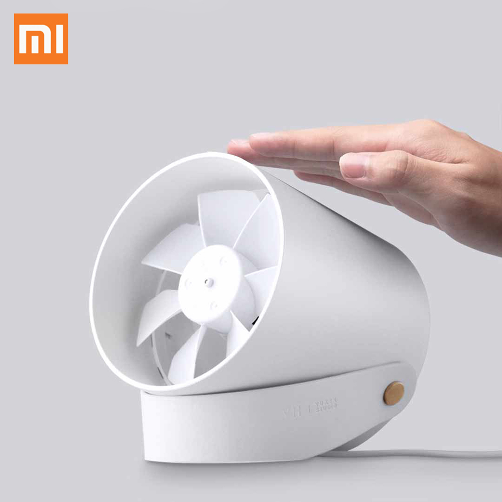 Original Xiaomi VH Mini Desktop Fan Portable Ventiladors USB Mijia Ultra Quiet Smart Touch Control Cooler Dual Motor Drivers